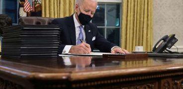 الرئيس الأمريكي جو بايدن أرسل أول رسالة منذ انتخابه للرئيس الفلسطيني