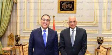 الدكتور على عبدالعال رئيس البرلمان و المهندس مصطفى مدبولى رئيس الحكومة