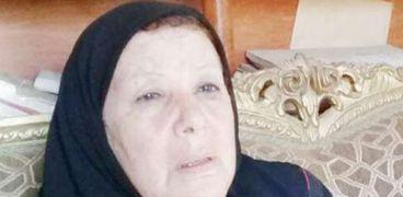 السيدة نفيسة قنديل زوجة الشاعر الراحل محمد عفيفي مطر