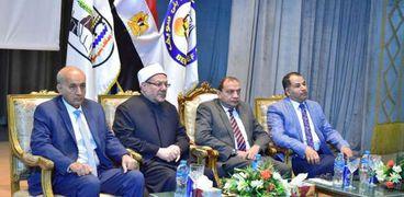 رئيس جامعة بني سويف يستقبل الدكتور شوقي علام