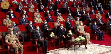 الرئيس السيسي خلال افتتاح مشروع سايلو فودز في المنوفية