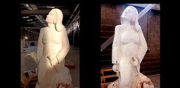 تمثال مصر تنهض بعد استكماله