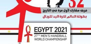 طابع بريد تذكاري بمناسبة تنظيم مصر لبطولة كأس العالم لليد