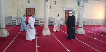 جانب من تعقيم مساجد القليوبية