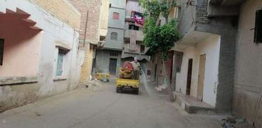 رش معامل كلية الزراعة وتعقيم شوارع مدن وقرى كفر الشيخ