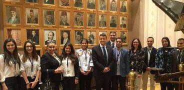 """ابناء المصريين بالخارج خلال زيارتهم للبرلمان""""أرشيفية"""""""
