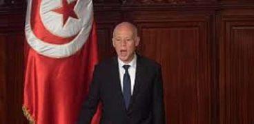 الرئيس التونسي خلال أداء اليمين الدستورية