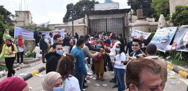 جانب من انتخابات مجلس نقابة الصحفيين أمس
