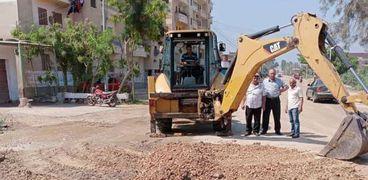 رؤساء مدن كفر الشيخ يتابعون إصلاح خطوط المياه ورفع كفاءة الصرف الصحي