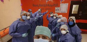 طواقم تمريض مستشفى إسنا