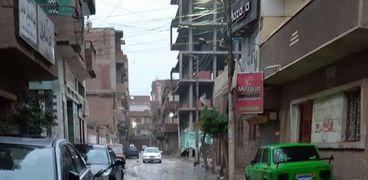 الأمطار في شوارع المنوفية