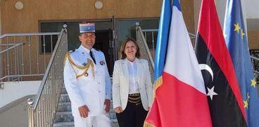 السفيرة الفرنسية في ليبيا خلال الافتتاح