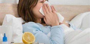 صورة لأحد الحالات المصابة بالأنفلونزا - صورة أرشيفية