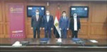 جانب من توقيع بروتوكول التعاون مع وزارة الشباب والرياضة