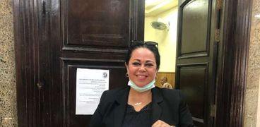 سحر أحمد ناصر بعد تقدمها بأوراق ترشيحها عن دائرة كرداسة