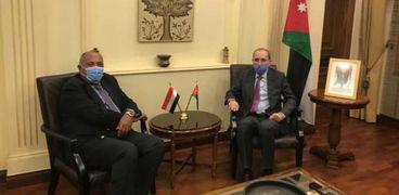 وزير الخارجية سامح شكري مع نظيره الأردني