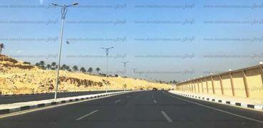 """صورة لطريق جديد التقطها """"محمد"""" في يوم ذكرى النصر وقام بنشرها على صفحته تعبيرا عن فرحته للانجازات"""