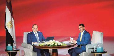 الرئيس السيسى خلال إحدى جلسات «اسأل الرئيس» فى أحد مؤتمرات الشباب