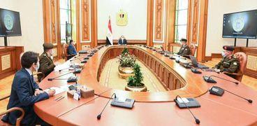 اجتماع الرئيس لمتابعة المشروعات القومية
