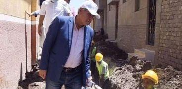 """المهندس ياسر الشهاوي رئيس شركه مياة الشرب والصرف الصحي بالمنيا يتابع مشروعات """"حياة كريمه"""""""