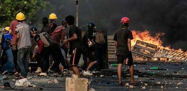 أعمال العنف فى ميانمار