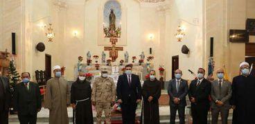 التنفيذية يهنئون الأخوة الأقباط بكنيسة الفرنسيسكان بمناسبة عيد الميلاد