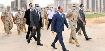 الرئيس عبدالفتاح السيسي في زيارة سابقة للعاصمة الإدارية