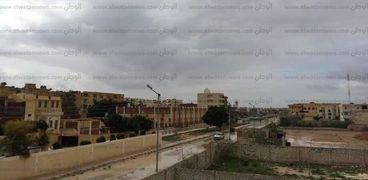 امطار فى مرسى مطروح