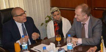 سعفان يستقبل مدير مكتب منظمة العمل بالقاهرة