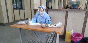 العيدات الخارجية بمستشفى مطروح العام والالتزام بالاجراءات الوقائية والتباعد الاجتماعى