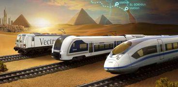 قطار يربط بين مدينة السادس من أكتوبر وأسوان في 4 ساعات