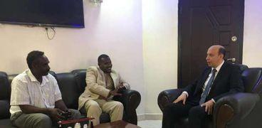 جانب من لقاء القنصل المصري