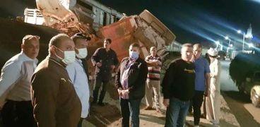 مسؤولون في حادث قطار السويس