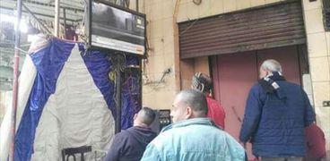 إحدى المقاهى على مقربة من محطة مصر