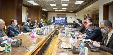 جانب من اجتماع مصر واثيوبيا والسودان بشأن سد النهضة اليوم