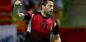 محمد سند لاعب منتخب مصر لكرة اليد