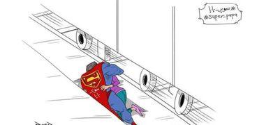 رسمة كاريكاتير لإنقاذ أب لابنته من الدهس