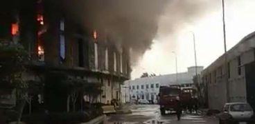 حريق بميناء الإسكندرية