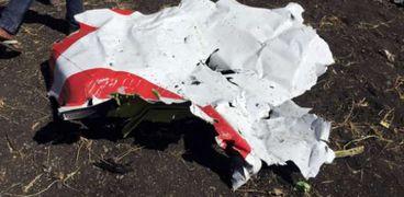 حطام الطائرة الإثيوبية