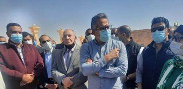 وزير السياحة والأثار يفتتح تطوير مقابرالحواويش بسوهاج