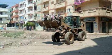 رفع 68 طن قمامة بمدن ومراكز محافظة البحيرة