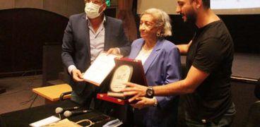 بيتر ميمي مخرج الاختيار خلال لقائه المفتوح مع الدكتور فتحي عبالوهاب رئيس صندوق التنمية الثقافية
