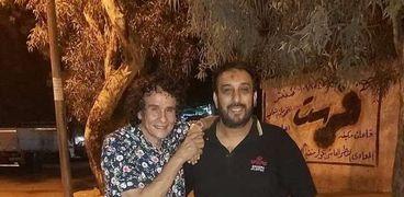 علي حميدة  المطرب والموزع الموسيقي حسام حسن حسني