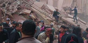 بالصور..محافظ الغربية يكلف التضامن بصرف تعويضات لاسر ضحايا منزل المحلة
