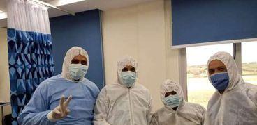 فنيو قسم الصيانة بمستشفى أبو خليفة