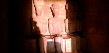 """تعامد الشمس على رمسيس الثاني بأبو سمبل """" أرشيفية"""""""