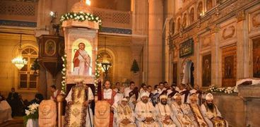 """البابا خلال قداس عيد الغطاس """"أرشيفية"""""""