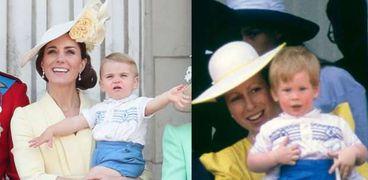 الأمير لويس يرتدي أزياء عمه الأمير هاري