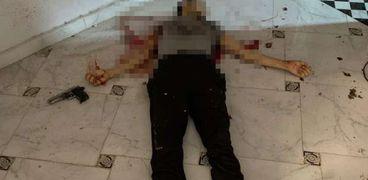 أحد العناصر الإرهابية في منطقة الألج بعد تصفيته