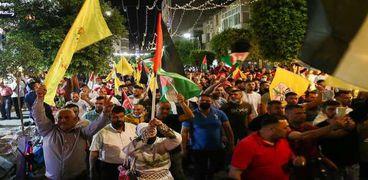 مظاهرة لحركة فتح في رام الله دعما للفلسطينيين في القدس الشرقية
